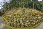 1200 פרצופי האבן עם הבעות, במקדש הבודהיסטי בקיוטו